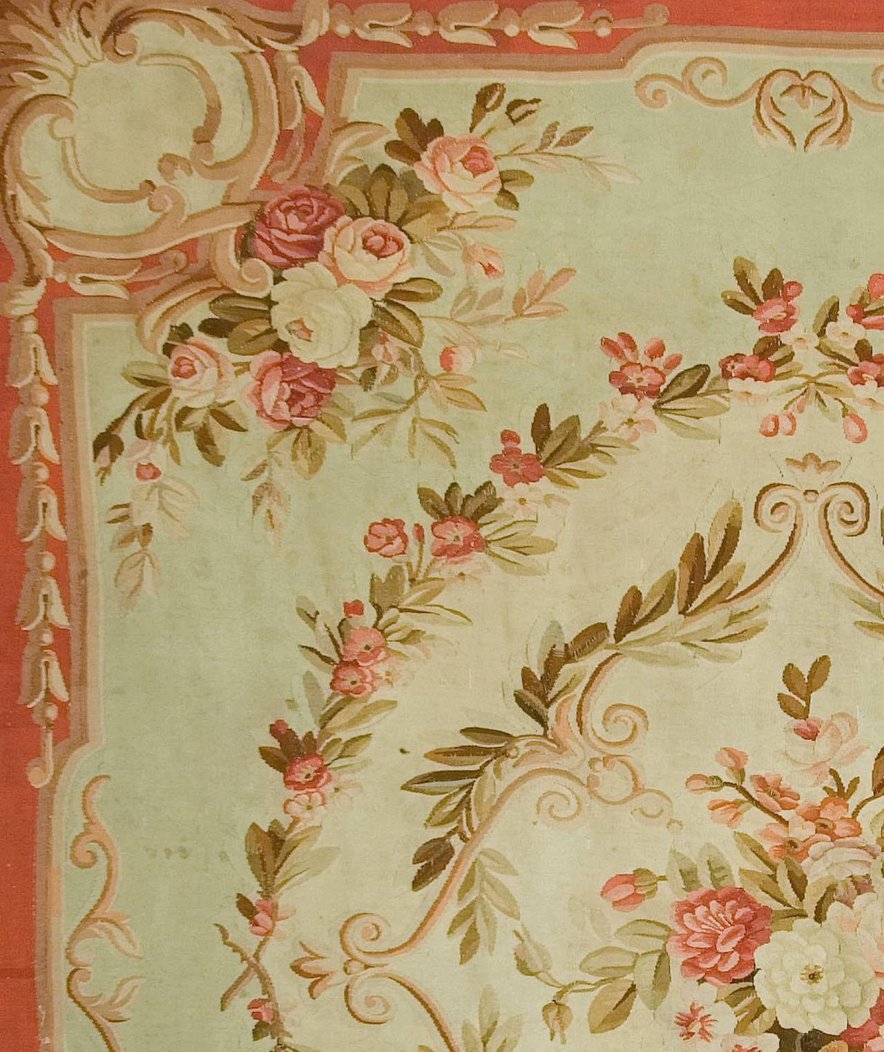 Great Antique French Aubusson Rug, Circa 1890 3