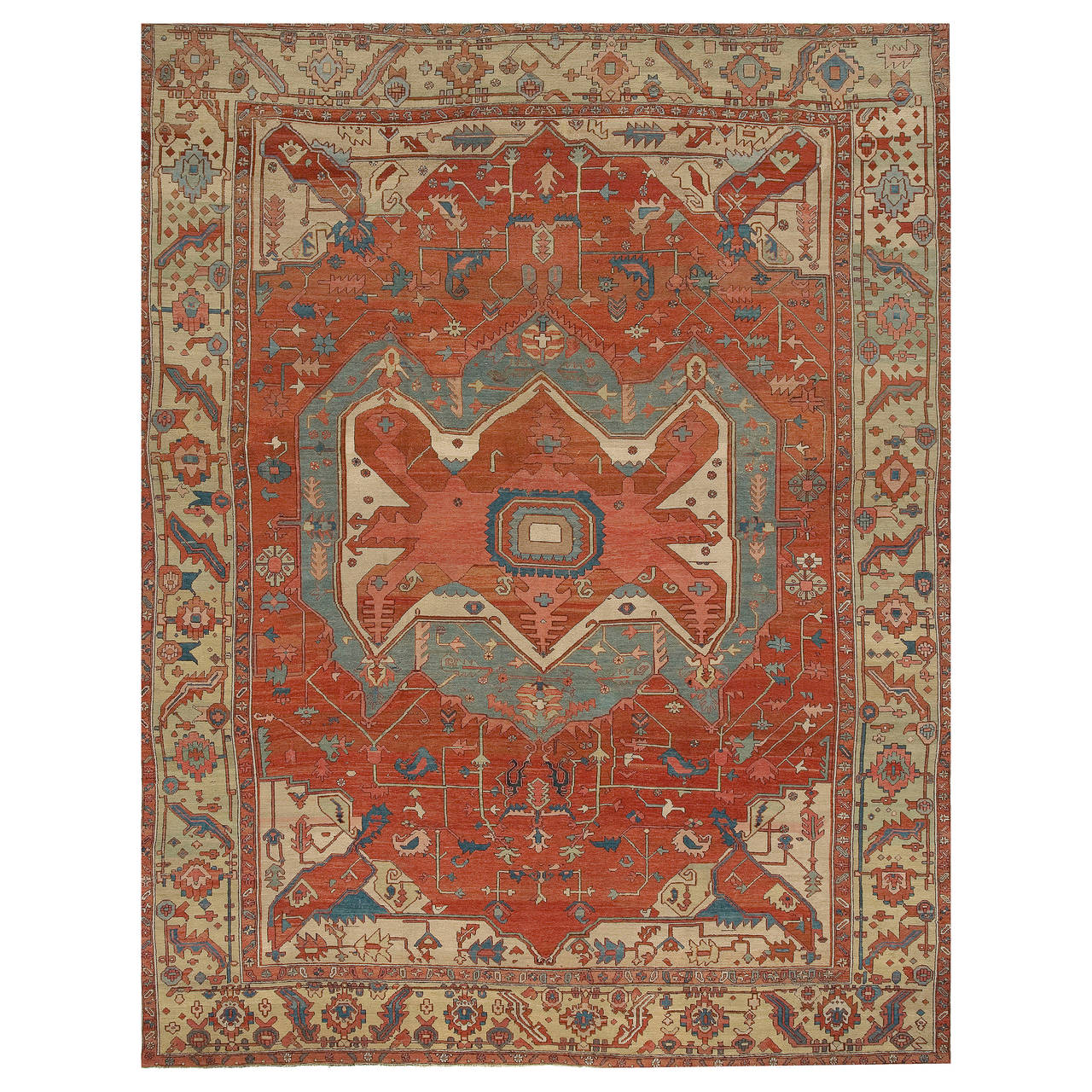 Antique Heriz Serapi Rug Circa 1890 For Sale At 1stdibs