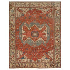 Antique Heriz Serapi Rug, circa 1890