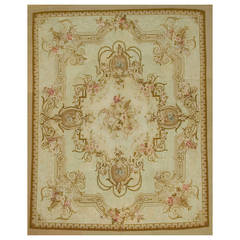 Antique French Aubusson Rug, circa 1880