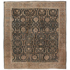 Antique Square Sultanabad Rug, circa 1890