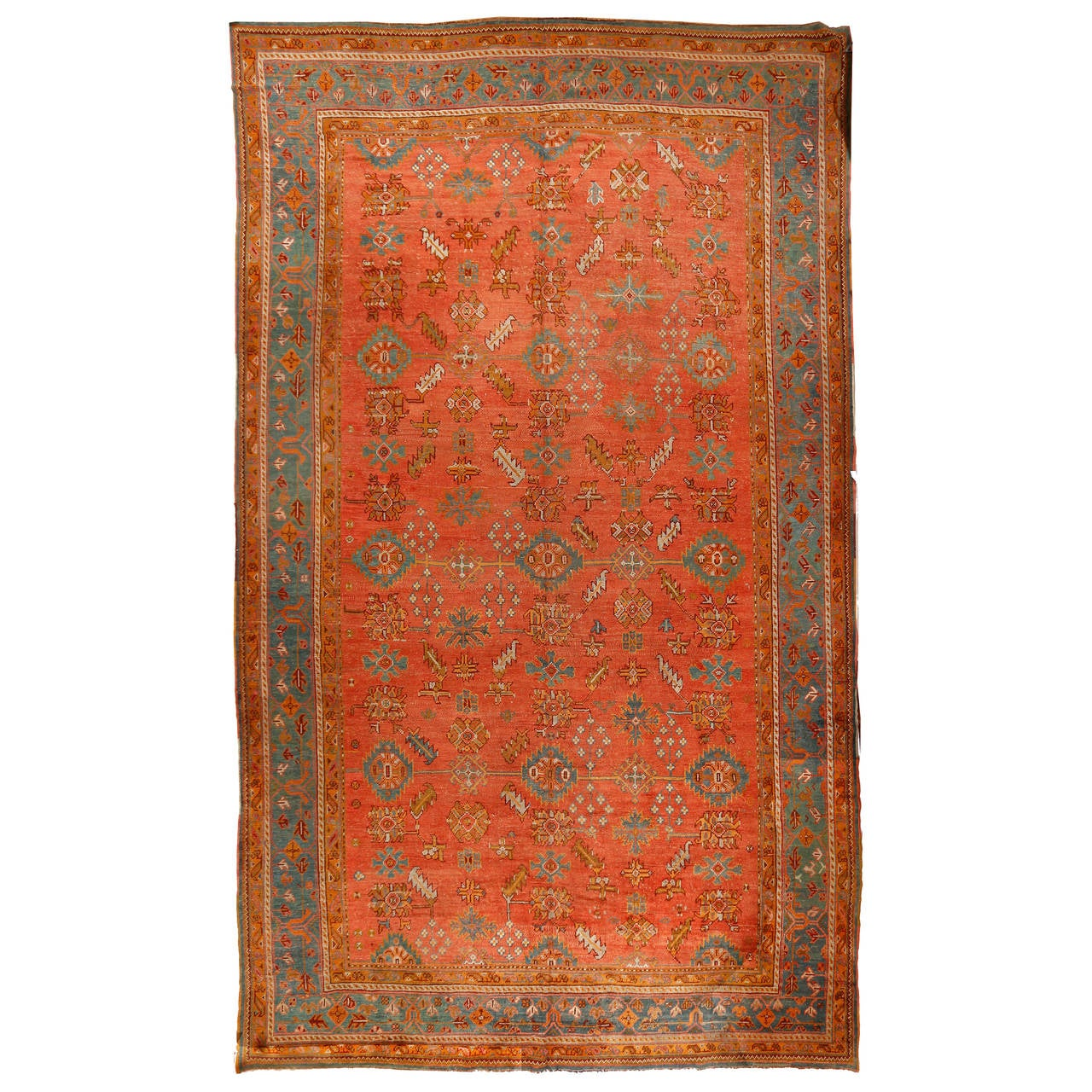 Oushak Rugs For Sale: Antique Oushak Rug, Circa 1890 For Sale At 1stdibs