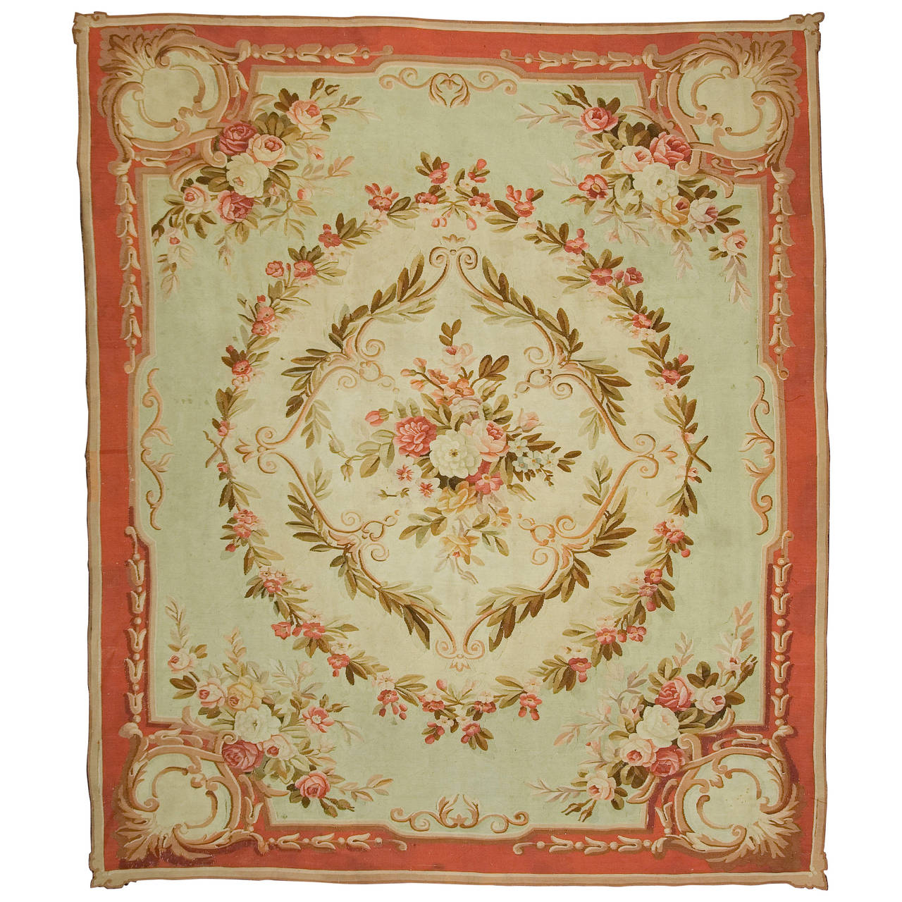 Antique French Aubusson Rug Circa 1890 For Sale At 1stdibs