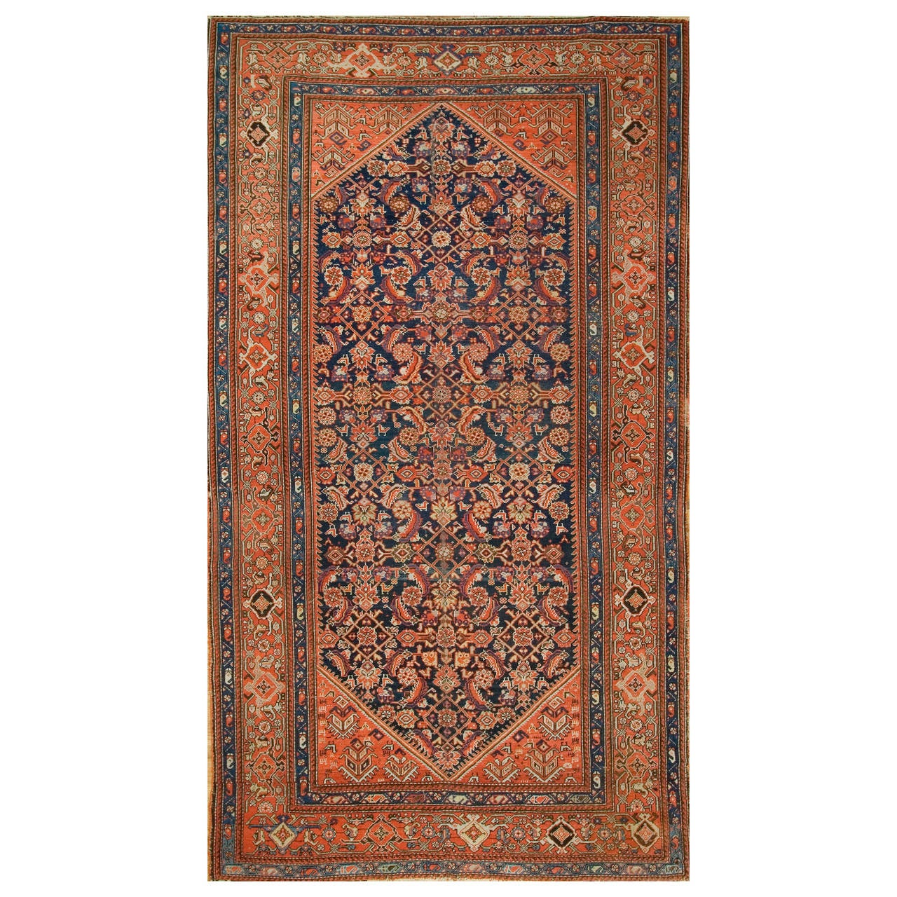 Antique Malayer Gallery-Size Rug For Sale At 1stdibs