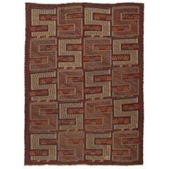 Antique Caucasian Zileh Flat-Weave Rug