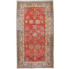 Antique Khotan Samarkand Rug from East Turkestan