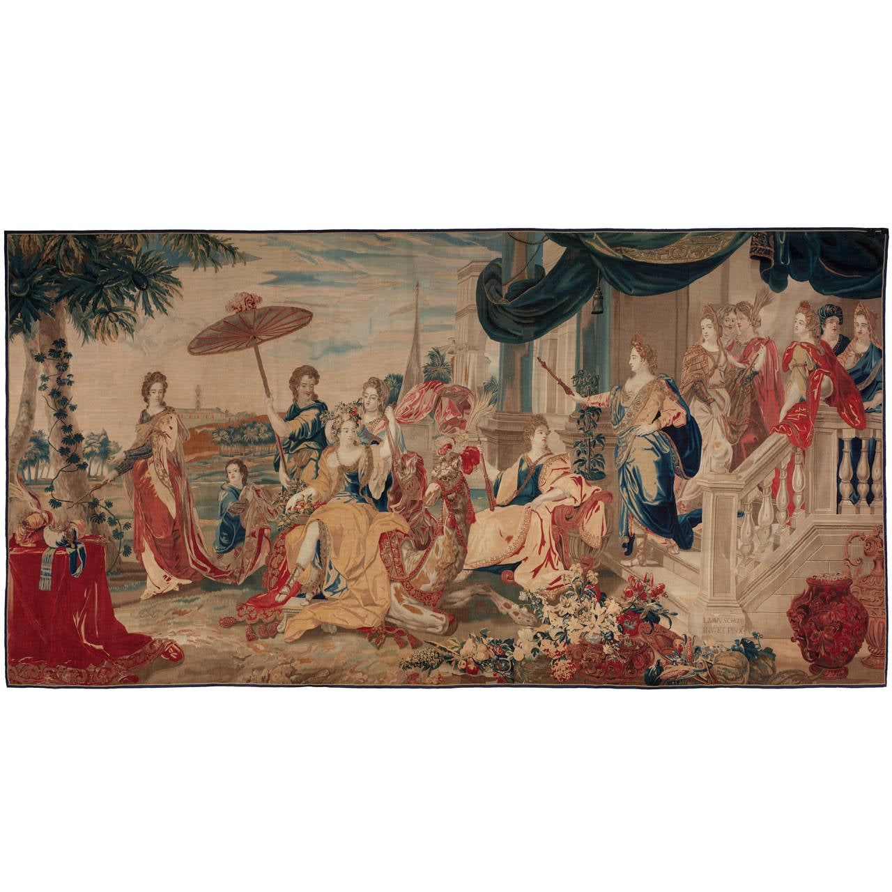 "Brussels Late 17th Century Tapestry, ""Asia"" from a Four Continents Series"