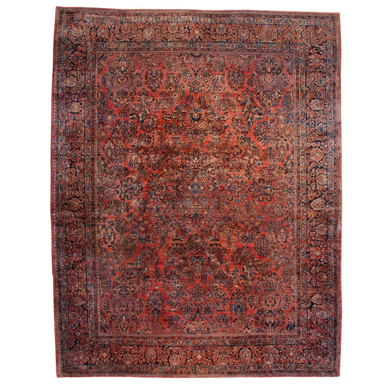 Antique Persian Sarouk Oriental Rug at 1stdibs
