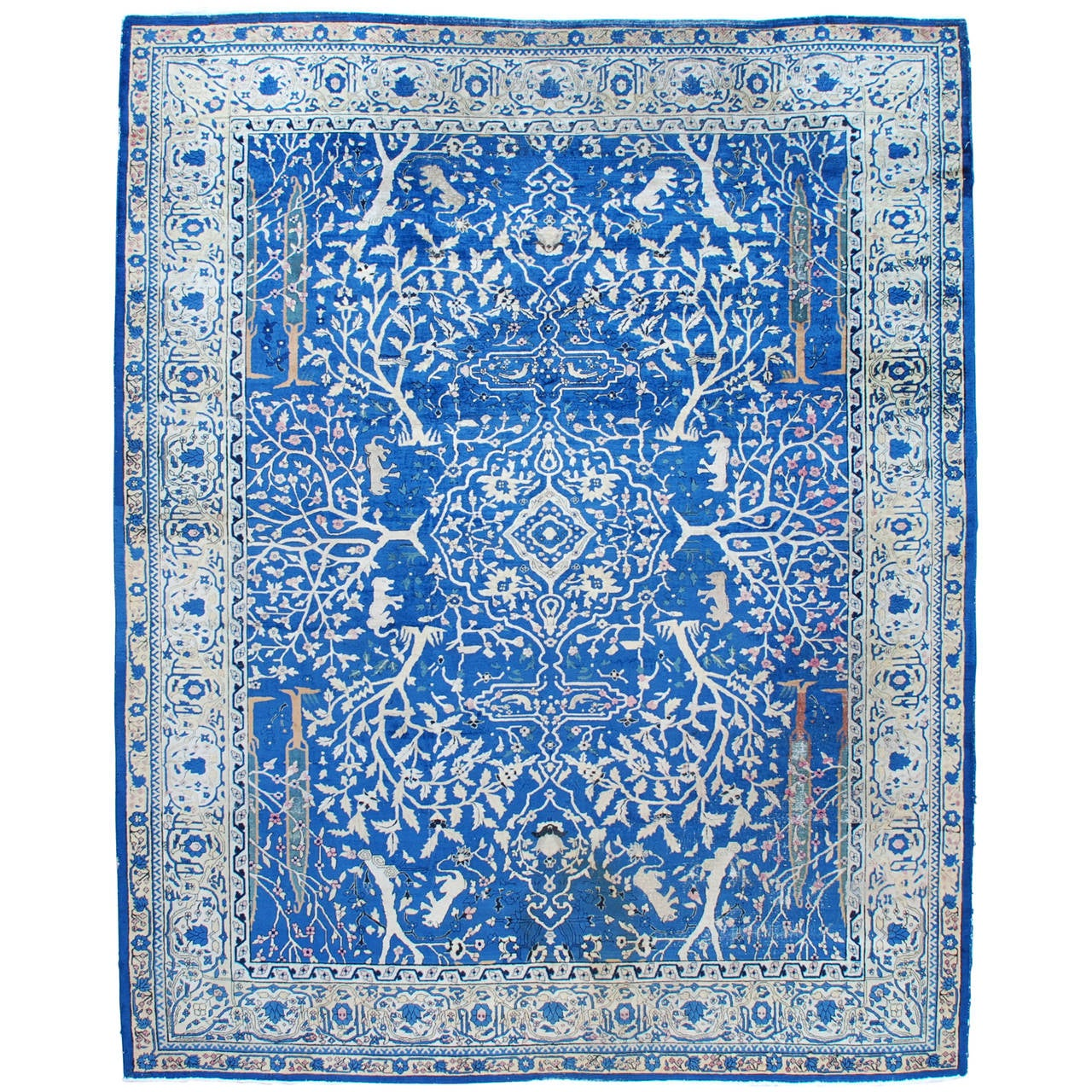Antique Amritsar Oriental Rug From India At 1stdibs