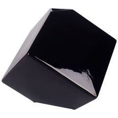 Black Cube Vase by Alvino Bagni for Raymor USA, Handmade in Italy, 1980s
