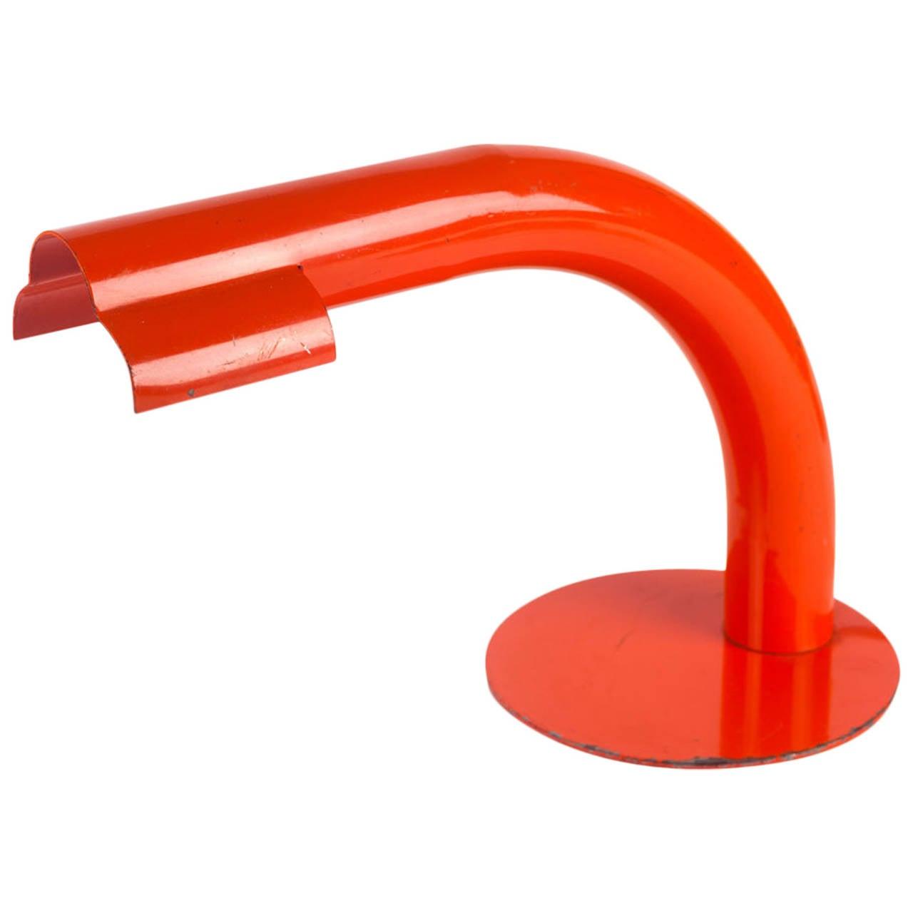 Mid-Century Italian Lamp for Raymor, Orange Metal, 1950s