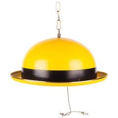 Hat Pendant by Hans-Agne Jakobsson Markaryd, Yellow Metal, Sweden, 1960s