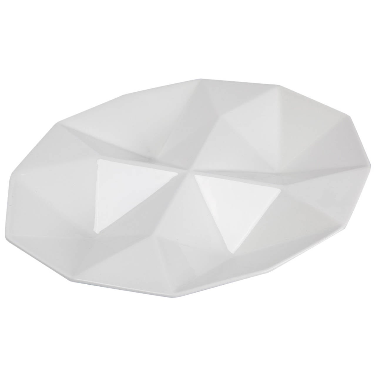 Finnish Dish Origami by Kaj Franck for Arabia of Finland, White Ceramic, 1960s For Sale