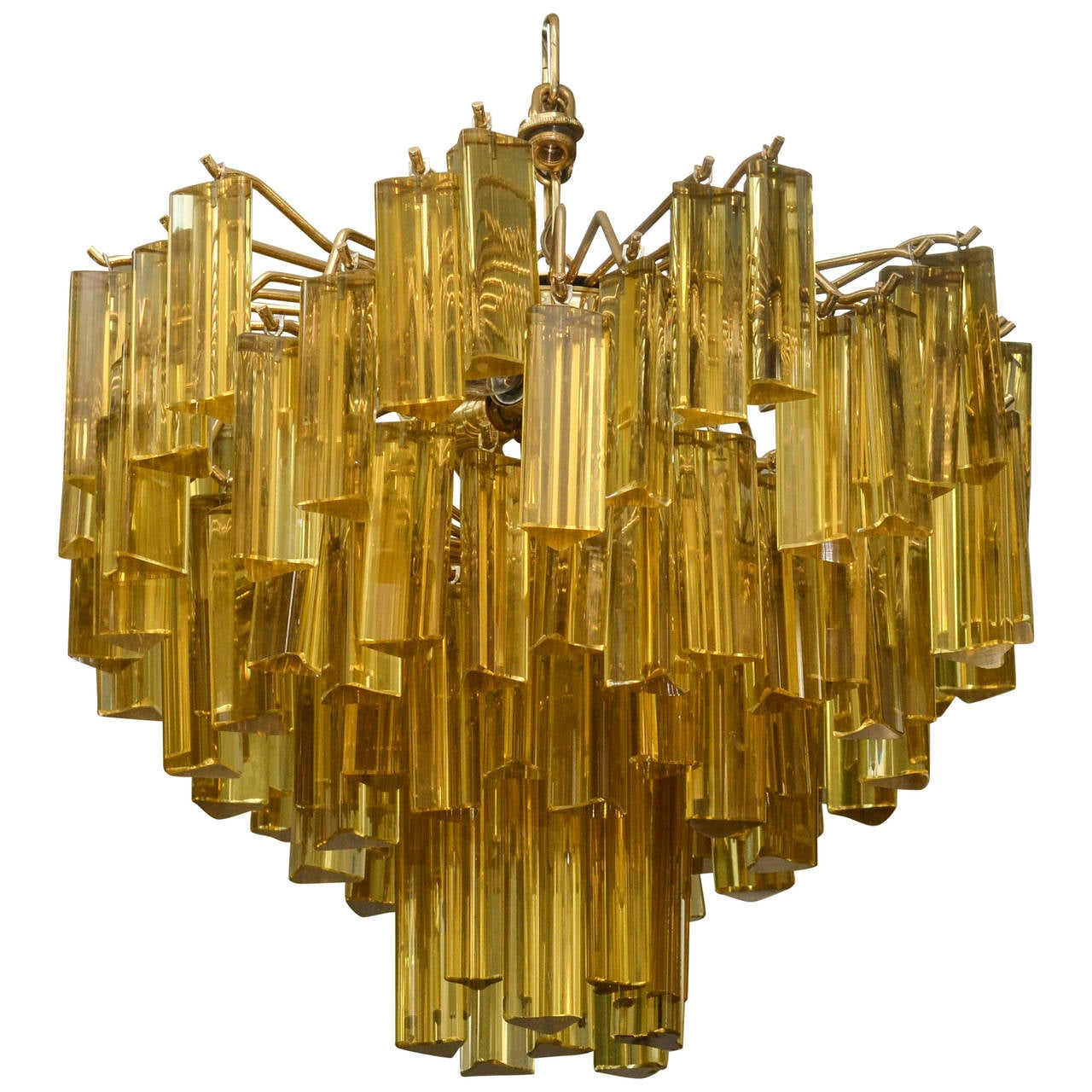 Murano amber glass chandelier for sale at 1stdibs murano amber glass chandelier for sale aloadofball Images