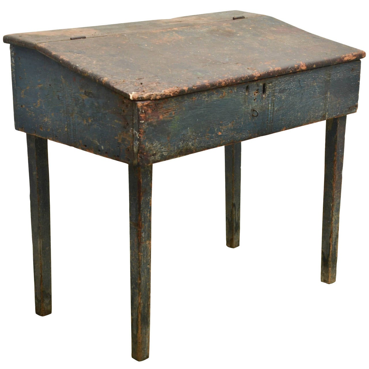 Early Primitive Desk in Original Paint For Sale at 1stdibs