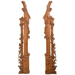 Italian Carved Olivewood Door Surrounds