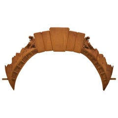 Italian Over Door Carved Olive Wood Arch