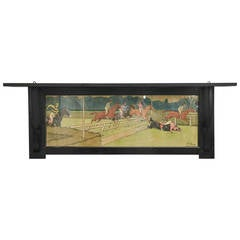 Harry Eliott Steeplechase Lithograph mounted as a Wall Shelf