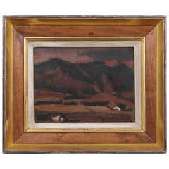 20th Century Josef Herman Landscape Painting