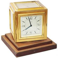Rare Hermes Cubic Desk Clock, 1950