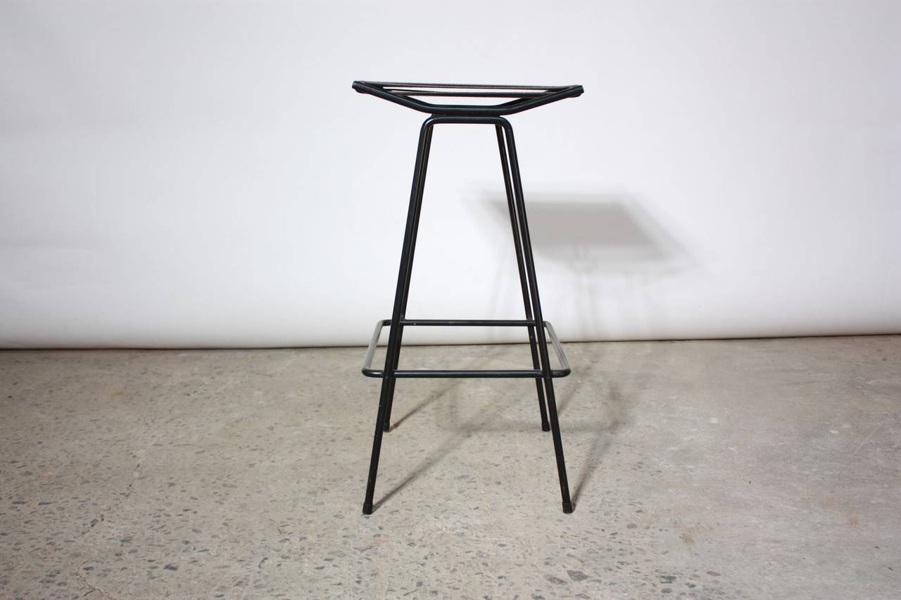 Set of Four Allan Gould Iron and Rope Stools For Sale 4
