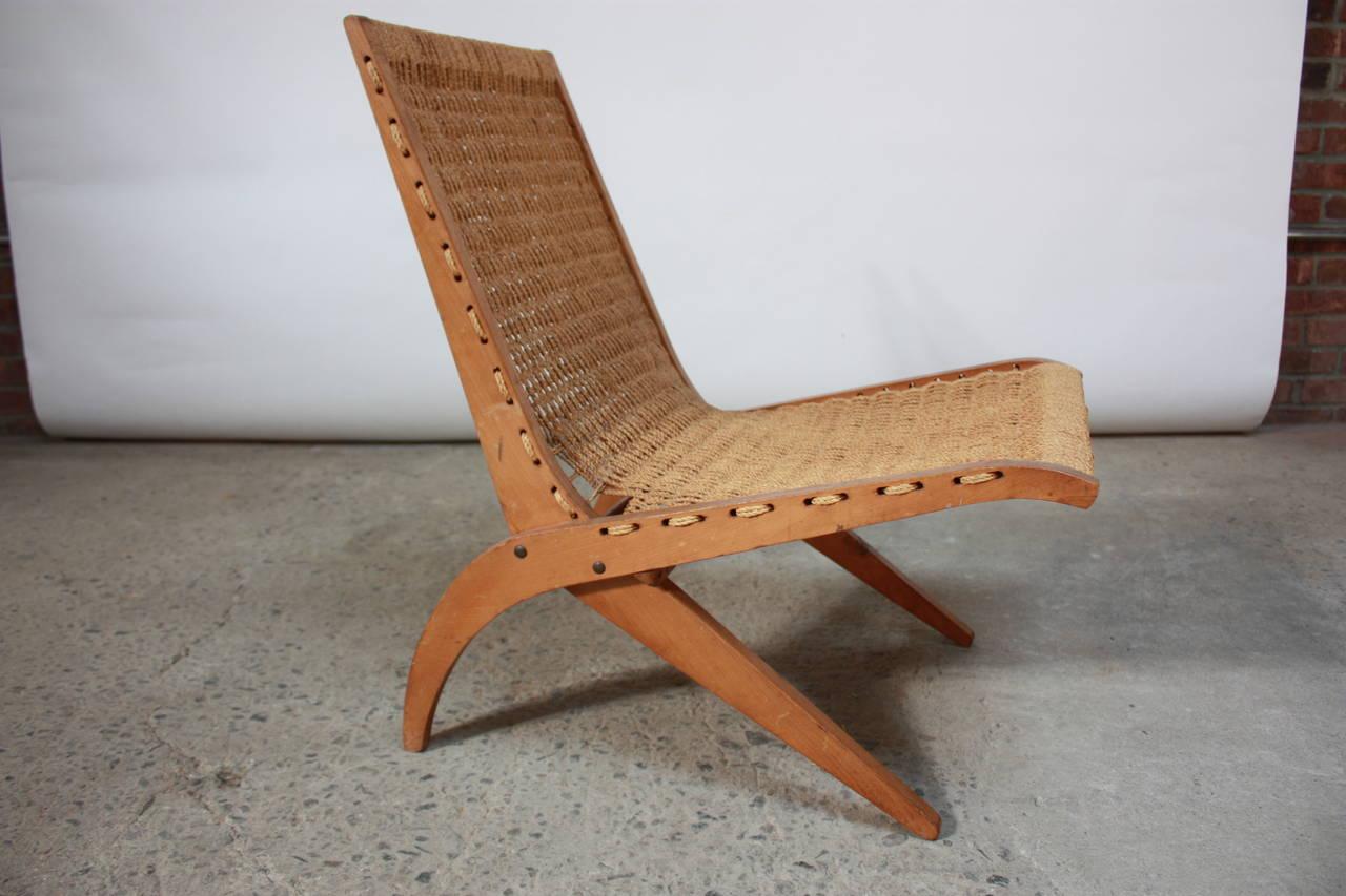Scandinavian Rope Side Chair At 1stdibs