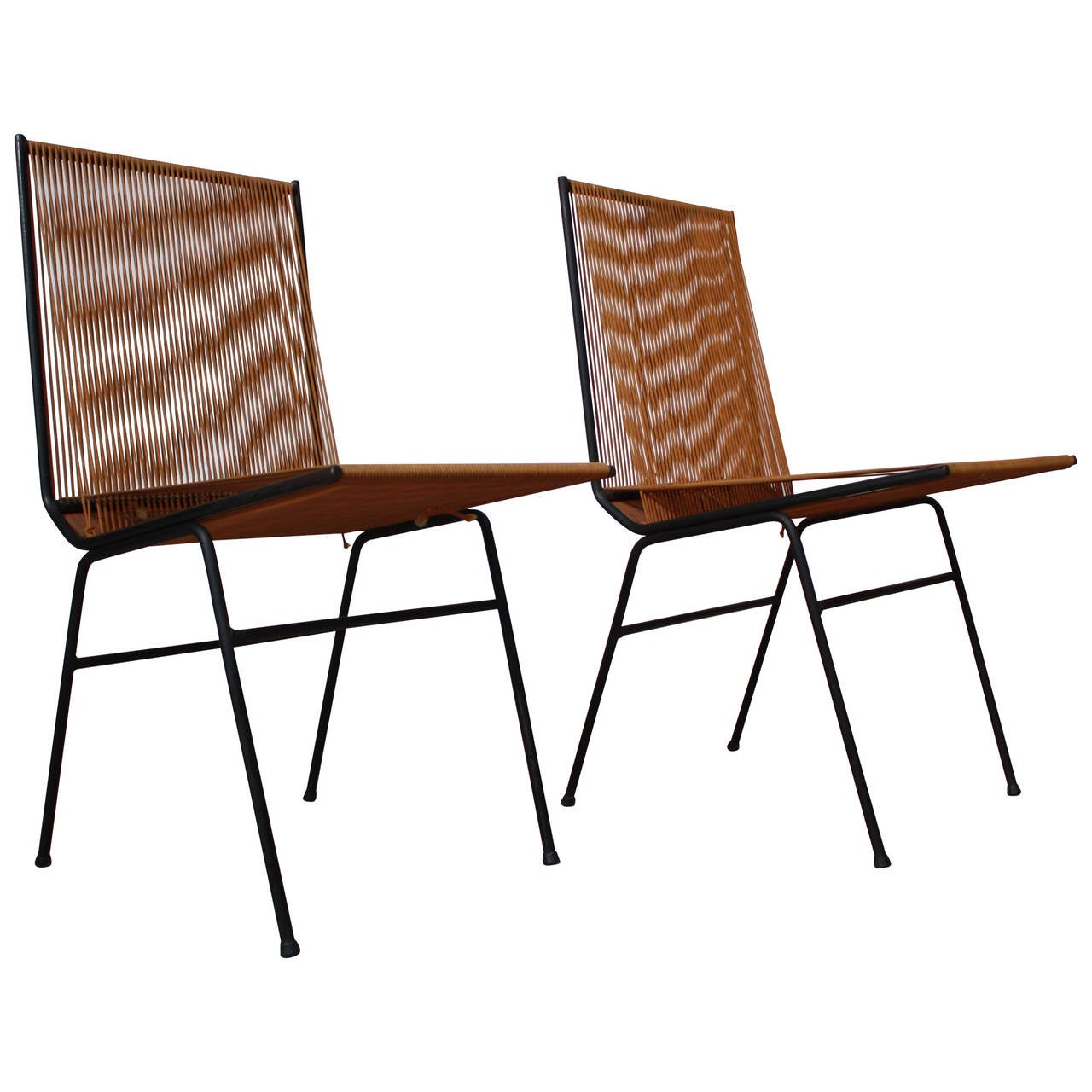 pair of allan gould string chairs at 1stdibs. Black Bedroom Furniture Sets. Home Design Ideas