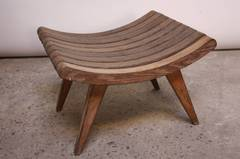 Oak Bench by Edward Durell Stone for Fulbright Furniture