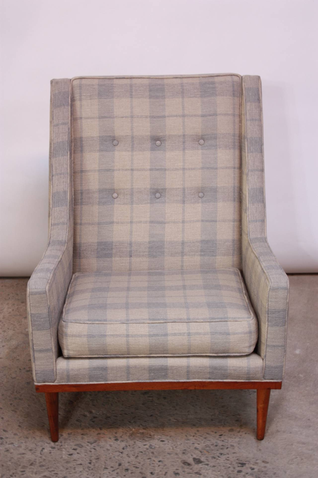 Milo Baughman for James Inc King Chair at 1stdibs