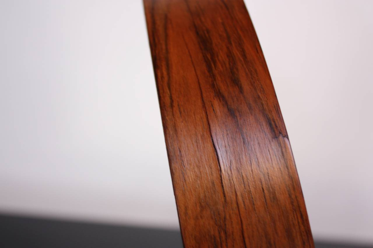 Mid-20th Century Swedish Rosewood Table Mirror by Uno and Östen Kristiansson for Luxus For Sale