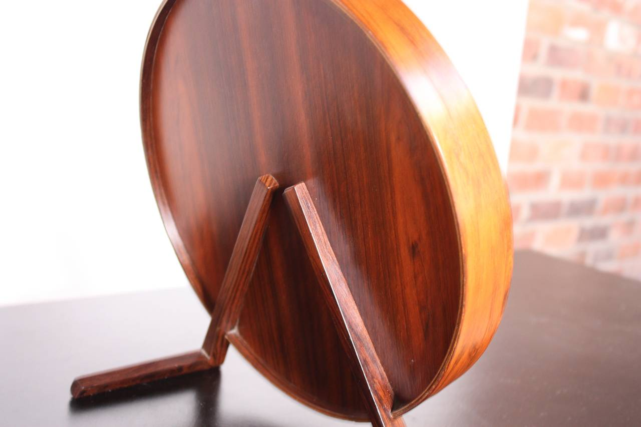 Swedish Rosewood Table Mirror by Uno and Östen Kristiansson for Luxus For Sale 1