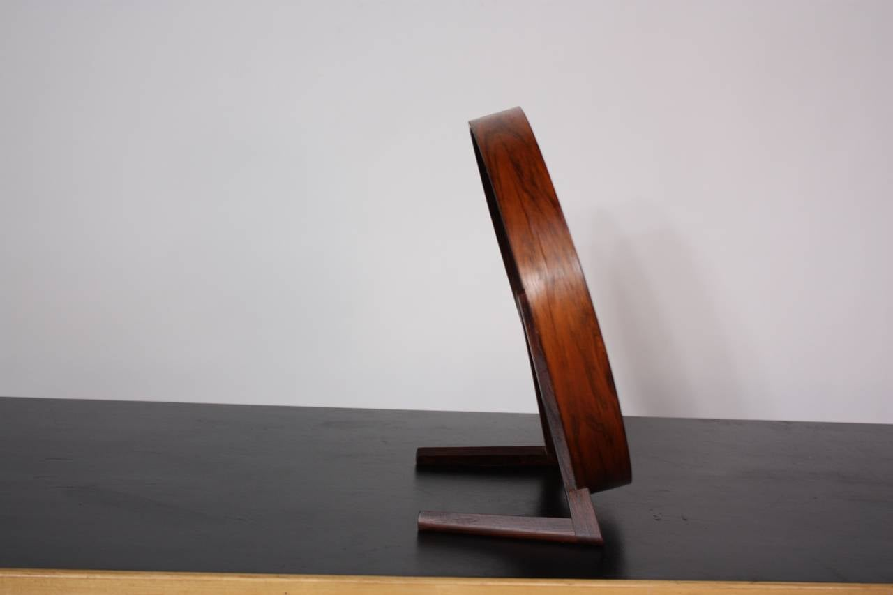 Swedish Rosewood Table Mirror by Uno and Östen Kristiansson for Luxus For Sale 2