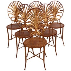 Set of Six S. Salvadori Gilded Chairs