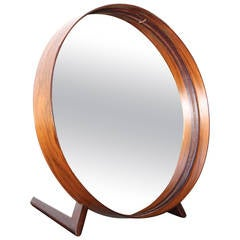 Swedish Rosewood Table Mirror by Uno and Östen Kristiansson for Luxus