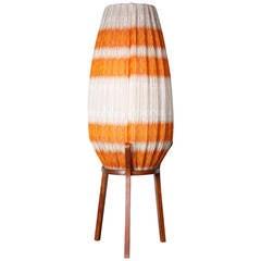 Danish Crocheted Lamp on Teak Base