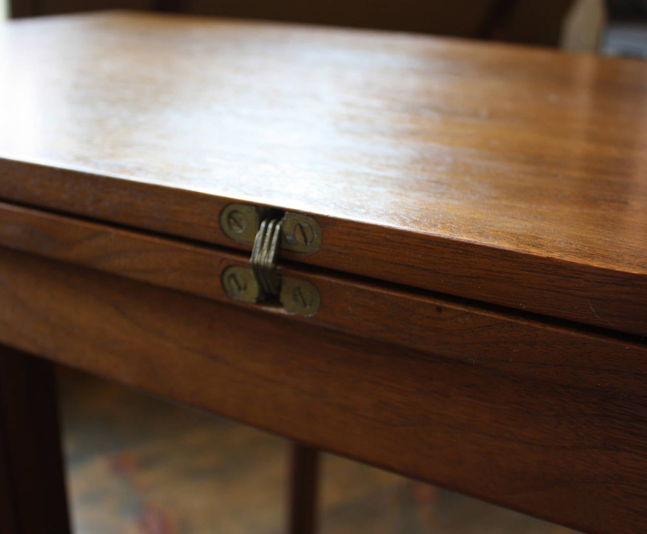 Walnut Console Or Convertible Dining Table With Gate Legs At 1stdibs
