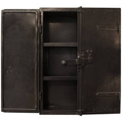 Industrial French Riveted Iron Little cabinet  circa 1910
