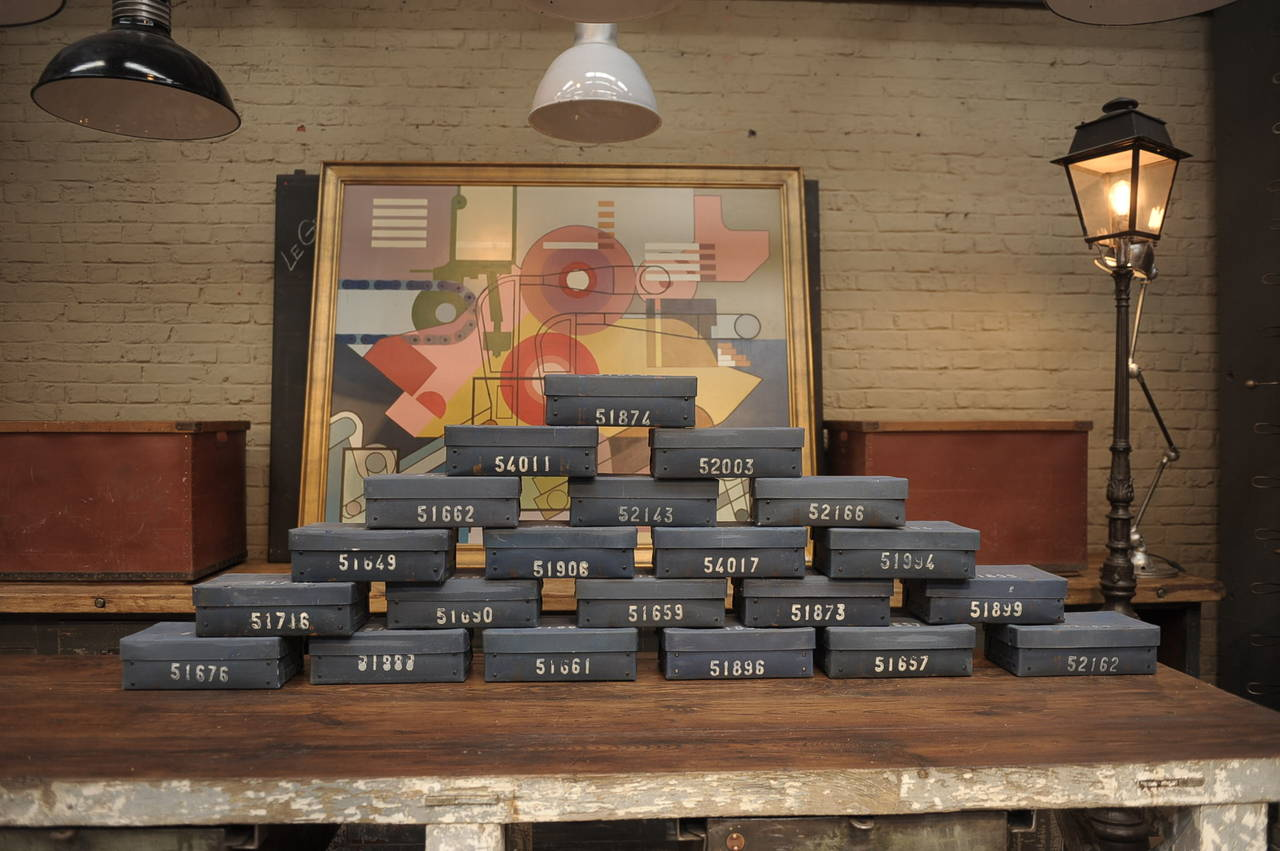 Mid-20th Century Vintage French National Bank Gold Bar Boxes, circa 1940 For Sale