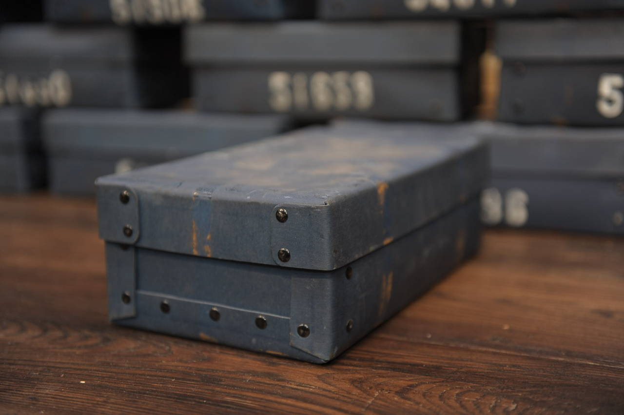 Vintage French National Bank Gold Bar Boxes, circa 1940 For Sale 2