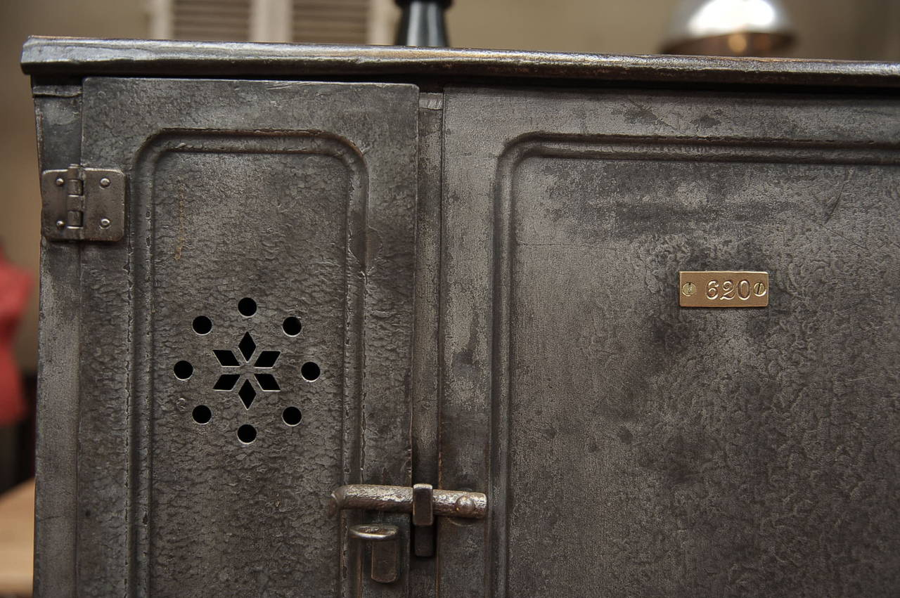 Vintage Industrial Doors : Vintage iron boat six doors industrial cabinet circa