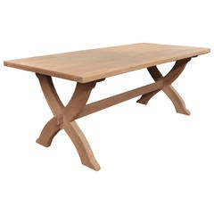 Oak-Top Dining Table, circa 1960