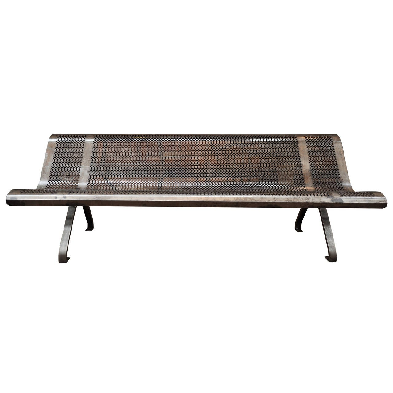 French Garden Metal Bench Circa 1950 For Sale At 1stdibs