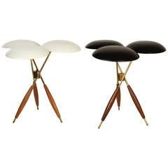 1950s Gerald Thurston Tripod Table Lamps for Lightolier