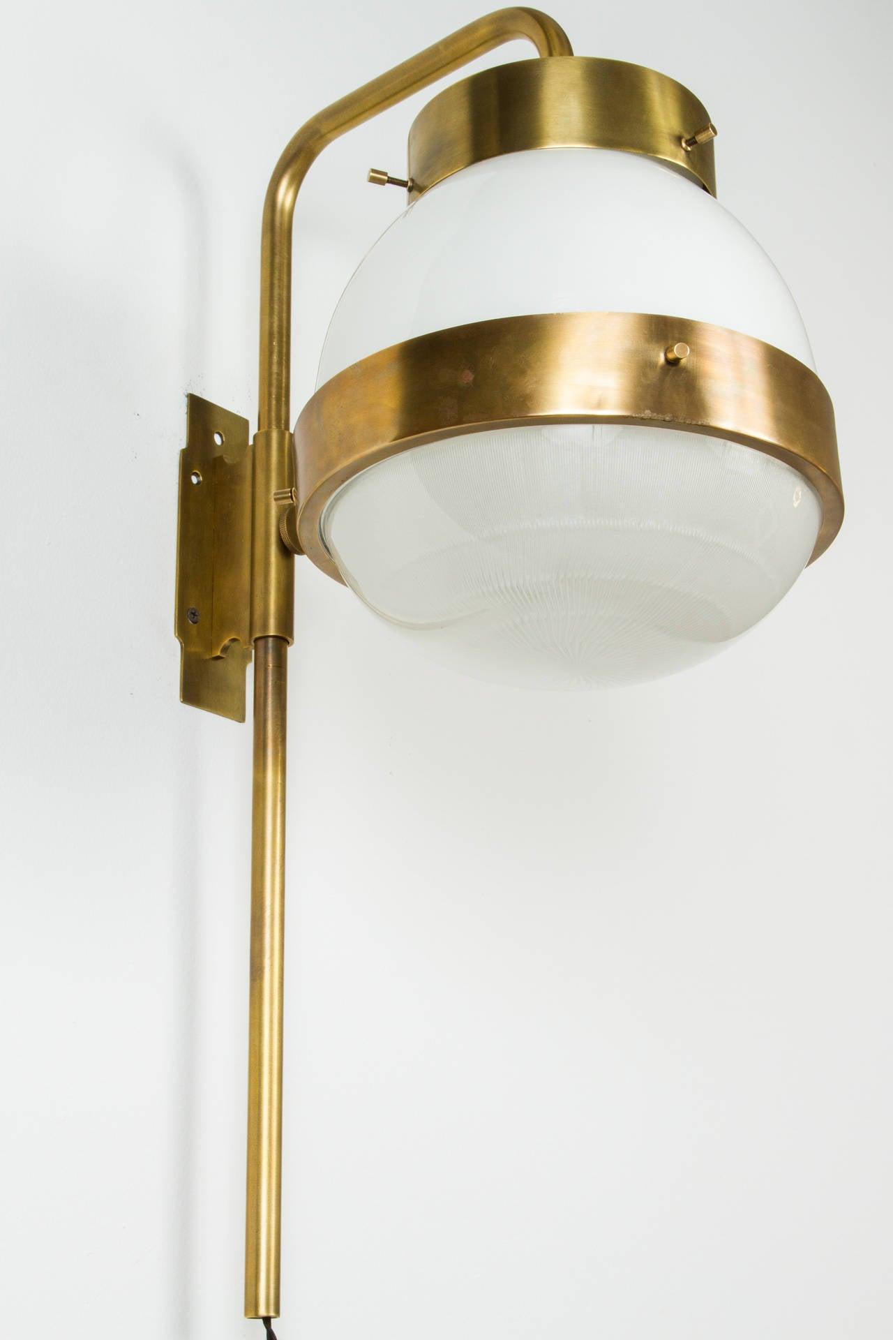 Delta 3 Light Bathroom Vanity Light: Set Of 8 Sergio Mazza Brass Delta Wall Lights At 1stdibs
