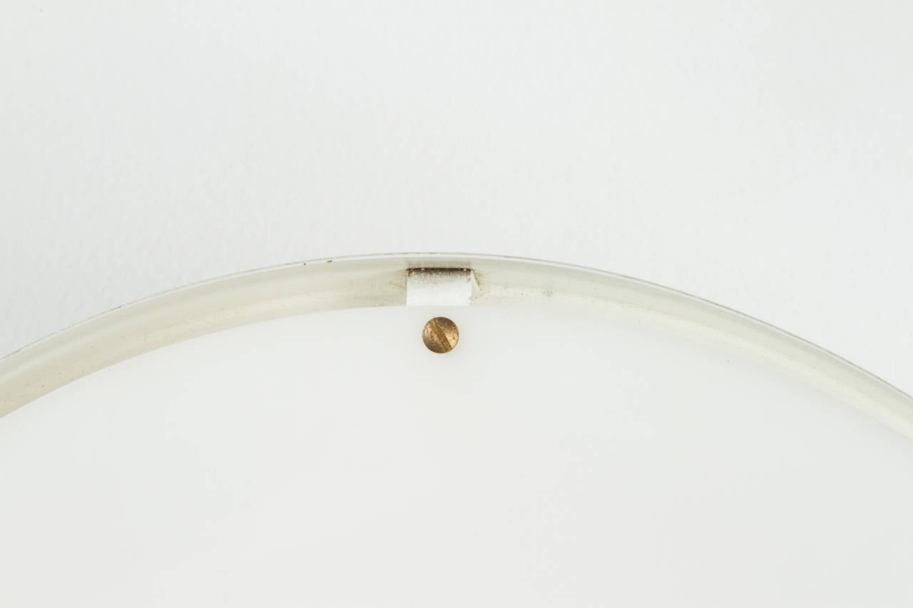 Mid-Century Modern 1950s Jacques Biny Ceiling Light for Luminalite For Sale