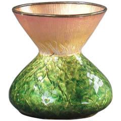 """Feuillatre Eugene """"Artichaut Fleuri"""" Art Nouveau Vase, Signed"""