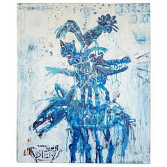 John van Orsouw, Delfts Blauw, 2010, Acrylic on Canvas