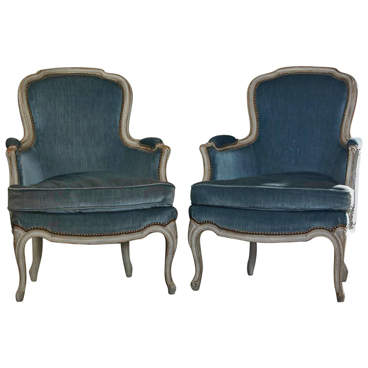 Pair of antique louis xv style fauteuils france ca 1900 at 1stdibs - Fauteuil style louis xv ...