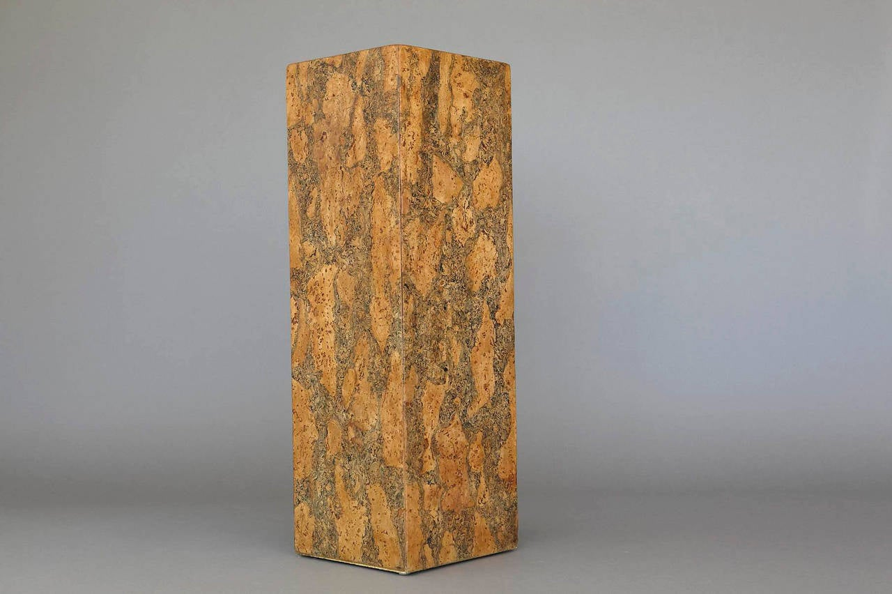 Burl Cork Pedestal Attributed to Milo Baughman 2