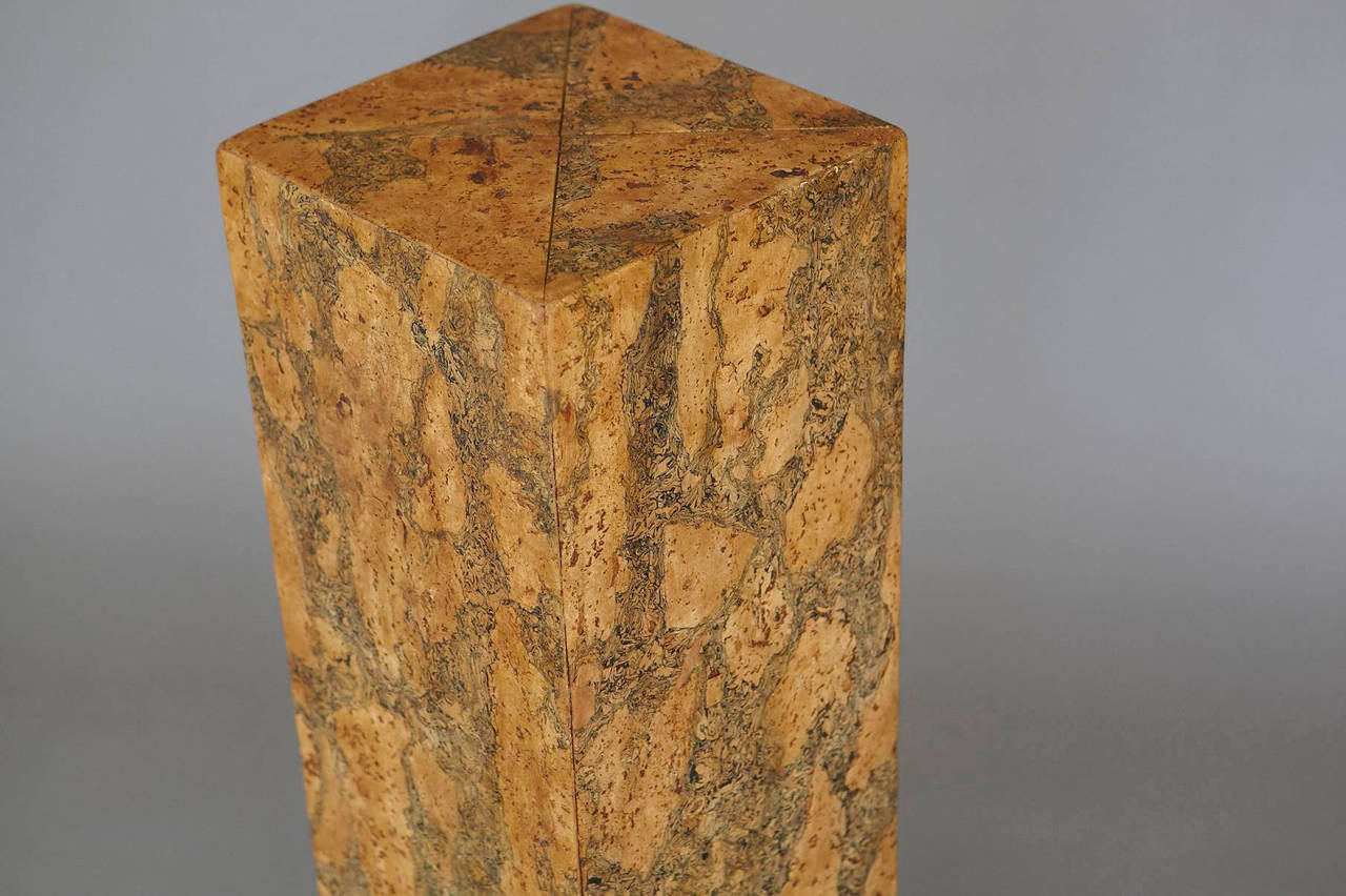 Burl Cork Pedestal Attributed to Milo Baughman 5